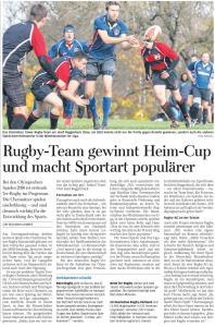 Freie Presse Chemnitz Nachbericht 11.11,2014