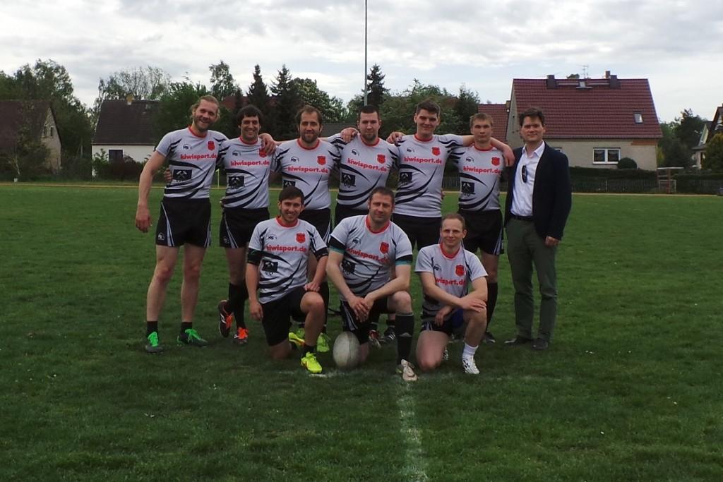 Grubenhunte Rugby mit Buntspechtesupport