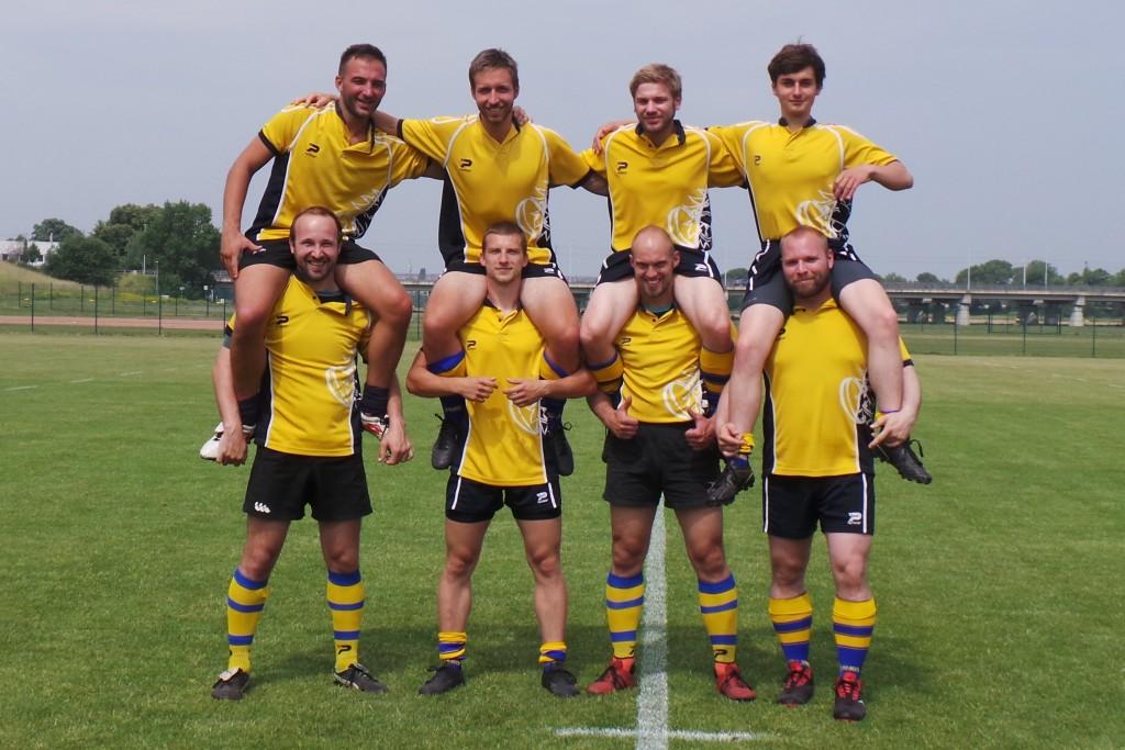 Team der Uni Leipzig mit Support des RC Leipzig